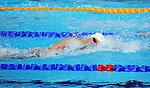Wales' Ieuan Lloyd competes in the Men's 4 x 100m Freestyle Relay - Heat 1<br /> <br /> Photographer Chris Vaughan/Sportingwales<br /> <br /> 20th Commonwealth Games - Day 2 - Friday 25th July 2014 - Swimming - Tollcross International Swimming Centre - Glasgow - UK