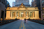 _DSC0028, Vacheron, New York, USA, 02/2016, USA-11621. A man walks in front of Grand Central Station.<br /> <br /> CAPTION: Man Walks in Front of Grand Central Terminal.  New York, New York, USA, 2016<br /> <br /> CHECK IMAGE USAGE<br /> <br /> FINAL_Vacheron<br /> <br /> Retouched_Sonny Fabbri 03/22/2016