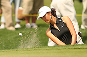 March 27, 2005; Rancho Mirage, CA, USA;  15 year old amateur Michelle Wie hits her ball out of a bunker to help save par on the 9th hole during the final round of the LPGA Kraft Nabisco golf tournament held at Mission Hills Country Club.  Wie shot a 1 under par 71 for the day and an even par 288 for the tournament and finished tied for 14th and won the award for low amateur.<br />