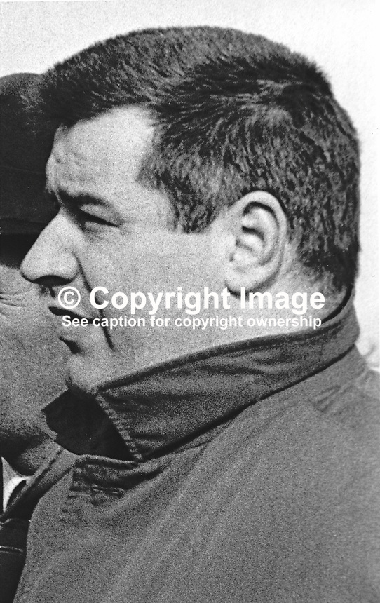 RUC Detective Constable David Armstrong, plain clothes, Springfield Road Police Station, Belfast, N Ireland, March, 1967, 196703000080<br />