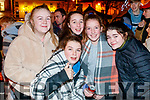 Megan McCool, Shauna Reidy, Ríona O'Halloran, Ava McElligott and Nichola O'Donoghue, pictured at the turning on of the Christmas lights in Listowel on Saturday last.