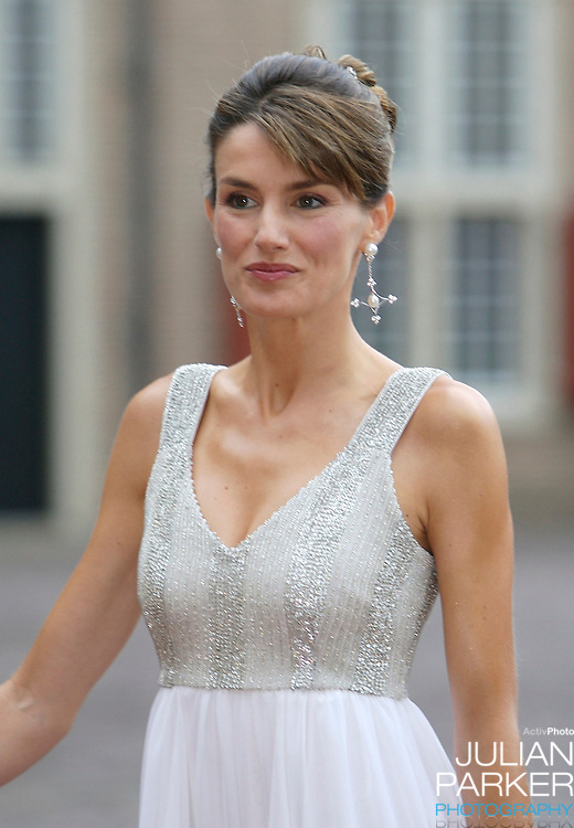 Crown Princess Letiza of Spain, arrives for a Reception at Het Loo Palace in Apeldoorn, to celebrate the 40th Birthday of Crown Prince Willem Alexander, The Prince turned forty in April earlier this year.