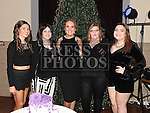 Casey Dixon celebrating her 21st birthday in the Thatch with friends Amy Campbell, Elisha Lennon, Colleen McCabe and Ailsa Keogh. Photo:Colin Bell/pressphotos.ie