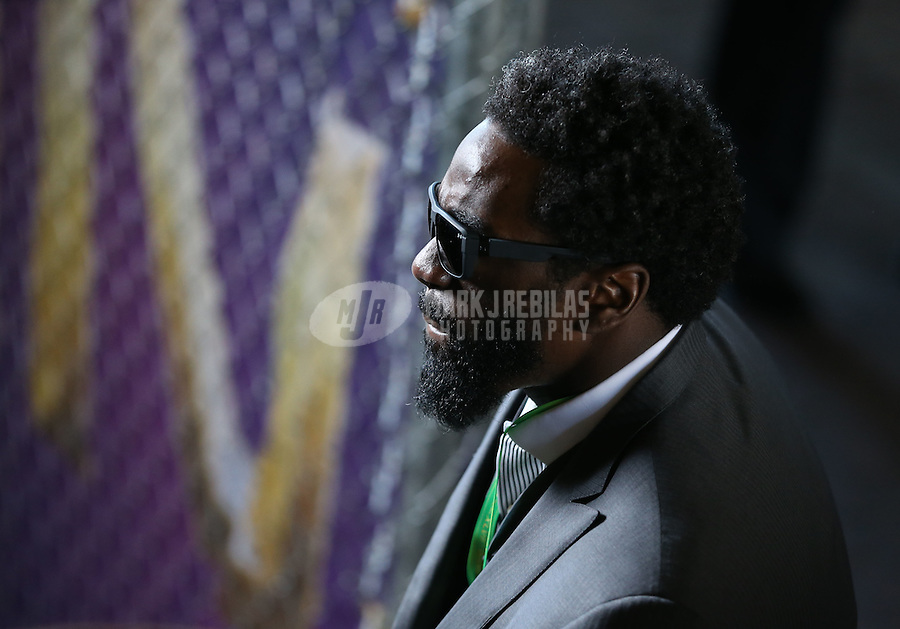 Feb 3, 2013; New Orleans, LA, USA; Baltimore Ravens safety Ed Reed (20) against the San Francisco 49ers in Super Bowl XLVII at the Mercedes-Benz Superdome. Mandatory Credit: Mark J. Rebilas-