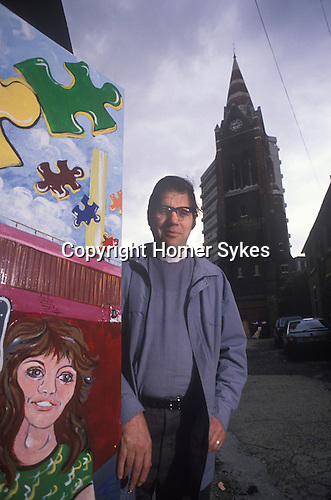Rev Michael Wimshurst St Pauls Bettersea South London UK 1980s / 90s.