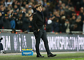 9th December 2017, Wembley Stadium, London England; EPL Premier League football, Tottenham Hotspur versus Stoke City; Tottenham Hotspur Manager Mauricio Pochettino looks on from the touchline