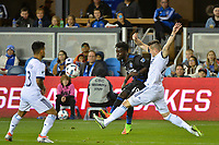 San Jose, CA - Saturday, March 11, 2017: Simon Dawkins during a Major League Soccer (MLS) match between the San Jose Earthquakes and the Vancouver Whitecaps FC at Avaya Stadium.