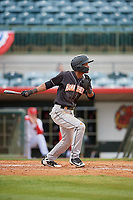 Jupiter Hammerheads Jose Devers (1) at bat during a Florida State League game against the Florida Fire Frogs on April 8, 2019 at Osceola County Stadium in Kissimmee, Florida.  Florida defeated Jupiter 7-6 in ten innings.  (Mike Janes/Four Seam Images)