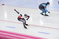 SPEEDSKATING: HAMAR: Vikingskipet, 28-02-2020, ISU World Speed Skating Championships, Sprint, 1000m Men, Artur Nogal (POL), Artur Galiyev (KAZ), ©photo Martin de Jong