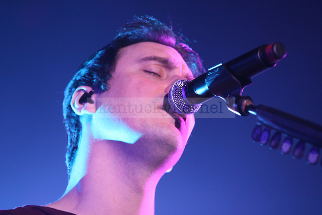 Lead singer Benjamin Burnley of Breaking Benjamin performs at Rupp Arena on Monday night, Feb. 1, 2010. Photo by Scott Hannigan | Staff