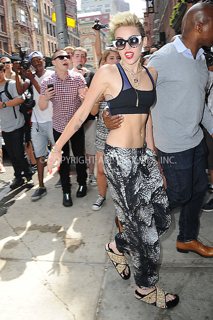 WWW.ACEPIXS.COM<br /> June 26, 2013, New York City<br /> <br /> Miley Cyrus arrives to her downtown hotel on June 26, 2013.<br /> <br /> By Line: Kristin Callahan/ACE Pictures<br /> ACE Pictures, Inc.<br /> tel: 646 769 0430<br /> Email: info@acepixs.com<br /> www.acepixs.com<br /> Copyright:<br /> Kristin Callahan/ACE Pictures