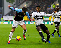 Burnley's Jeff Hendrick battles with Fulham's Ryan Sessegnon<br /> <br /> Photographer Alex Dodd/CameraSport<br /> <br /> The Premier League - Burnley v Fulham - Saturday 12th January 2019 - Turf Moor - Burnley<br /> <br /> World Copyright © 2019 CameraSport. All rights reserved. 43 Linden Ave. Countesthorpe. Leicester. England. LE8 5PG - Tel: +44 (0) 116 277 4147 - admin@camerasport.com - www.camerasport.com