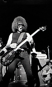 "The Dictators - bassist Mark ""The Animal"" Mendoza - performing live at the Roundhouse in London UK - 02 Nov 1977.  Photo credit: George Bodnar Archive/IconicPix"
