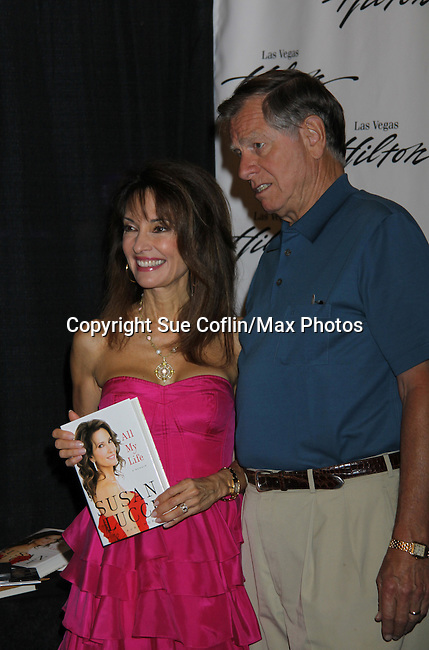 All My Children Susan Lucci signs her new book - All My Life and husband Helmut Huber is there at the 38th Annual Daytime Entertainment Emmy Awards 2011 held on June 19, 2011 at the Las Vegas Hilton, Las Vegas, Nevada. (Photo by Sue Coflin/Max Photos)