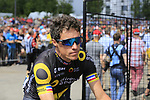 Sylvain Chavanel (FRA) Direct Energie at sign on in Mondorf-les-Bains before the start of Stage 4 of the 104th edition of the Tour de France 2017, running 207.5km from Mondorf-les-Bains, Luxembourg to Vittel, France. 4th July 2017.<br /> Picture: Eoin Clarke | Cyclefile<br /> <br /> <br /> All photos usage must carry mandatory copyright credit (&copy; Cyclefile | Eoin Clarke)