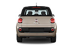 Straight rear view of a 2014 Fiat 500L Lounge 5 Door MPV stock images
