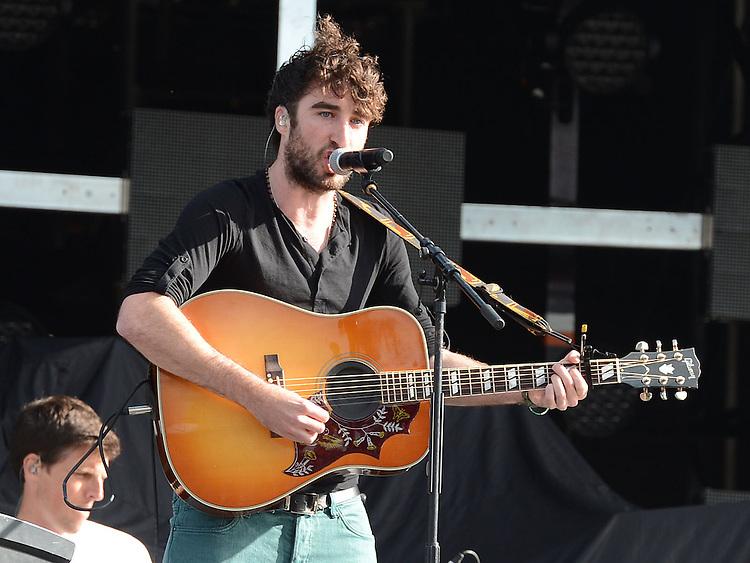 Danny O'Reilly of the Coronas performing before Bon Jovi at Slane Castle. Photo:Colin Bell/pressphotos.ie