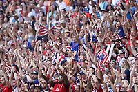 Lyon (França), 07/07/2019 - Copa do Mundo de Futebol Feminino / Estados Unidos x Holanda - Torcedores dos Estados Unidos durante partida contra à Holanda jogo valido pela Final da Copa do Mundo de Futebol Feminino em Lyon na França neste domingo, 07. <br /> (Foto: Vanessa Carvalho/Brazil Photo Press/Agencia O Globo) Esportes