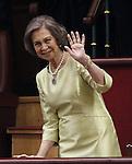 Coronation ceremony in Madrid. Queen Sofía of Spain at Congreso de los Diputados. June 19 ,2014. (ALTERPHOTOS/EFE/Pool)