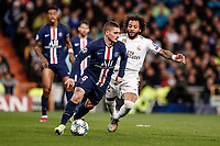 26th November 2019; Estadio Santiago Bernabeu, Madrid, Spain; UEFA Champions League Football, Real Madrid versus Paris Saint Germain; Marco Verratti (PSG)  in action during the match  - Editorial Use