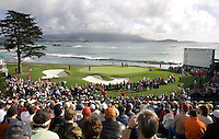 18th green, AT&T Pro Am, Carmel California, Feb. 11, 2009.