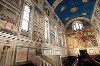 Gli affreschi di Giotto all'interno della Cappella degli Scrovegni a Padova.<br /> Interior of the Scrovegni Chapel frescoed by Giotto, in Padua.<br /> UPDATE IMAGES PRESS/Riccardo De Luca