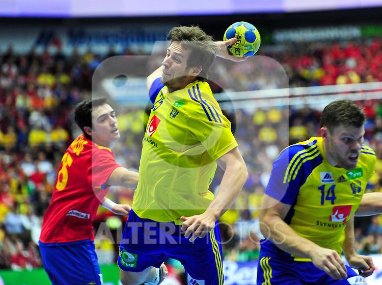 110130 Handboll, VM, Sverige - Spanien: Kim Ekdahl Du Rietz, Sverige.. Foto © nph / Bildbyrån   73206