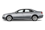 Driver side profile view of a 2010 Audi A8 4 Door Sedan 4WD