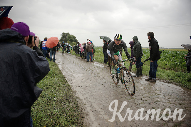 Simon Gerrans (AUS/Orica-GreenEDGE) on pavé sector 6<br /> <br /> 2014 Tour de France<br /> stage 5: Ypres/Ieper (BEL) - Arenberg Porte du Hainaut (155km)