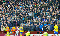 Leeds United fans cheer on their team<br /> <br /> Photographer Alex Dodd/CameraSport<br /> <br /> The EFL Sky Bet Championship - Aston Villa v Leeds United - Sunday 23rd December 2018 - Villa Park - Birmingham<br /> <br /> World Copyright &copy; 2018 CameraSport. All rights reserved. 43 Linden Ave. Countesthorpe. Leicester. England. LE8 5PG - Tel: +44 (0) 116 277 4147 - admin@camerasport.com - www.camerasport.com