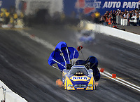 Feb 22, 2014; Chandler, AZ, USA; NHRA funny car driver Ron Capps during qualifying for the Carquest Auto Parts Nationals at Wild Horse Pass Motorsports Park. Mandatory Credit: Mark J. Rebilas-USA TODAY Sports