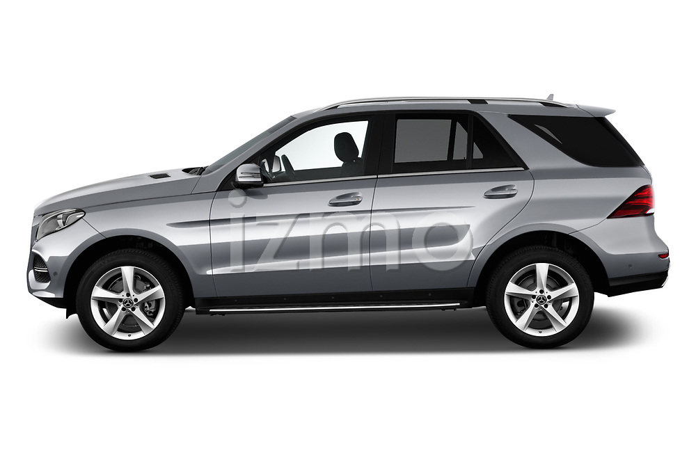 Car driver side profile view of a 2018 Mercedes Benz GLE Base 5 Door SUV