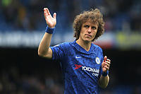 David Luiz of Chelsea waves to the home fans as he walks around the pitch after the game during Chelsea vs Watford, Premier League Football at Stamford Bridge on 5th May 2019