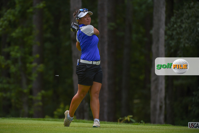 Megan Khang (USA) watches her tee shot on 2 during round 1 of the U.S. Women's Open Championship, Shoal Creek Country Club, at Birmingham, Alabama, USA. 5/31/2018.<br /> Picture: Golffile | Ken Murray<br /> <br /> All photo usage must carry mandatory copyright credit (© Golffile | Ken Murray)