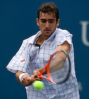 Marin Cilic (CRO) (16) against Andy Murray (GBR) (2) in the fourth round. Cilic beat Murray 7-5 6-2 6-2..International Tennis - US Open - Day 9 Tue 08  Sep 2009 - USTA Billie Jean King National Tennis Center - Flushing - New York - USA..© Frey Images - Barry House, 20-22 Worple Road, London, SW19 4DH.Tel - +44 208 947 0100.Cell - +4 7843 383 012.Email - mfrey@advantagemedianet.com