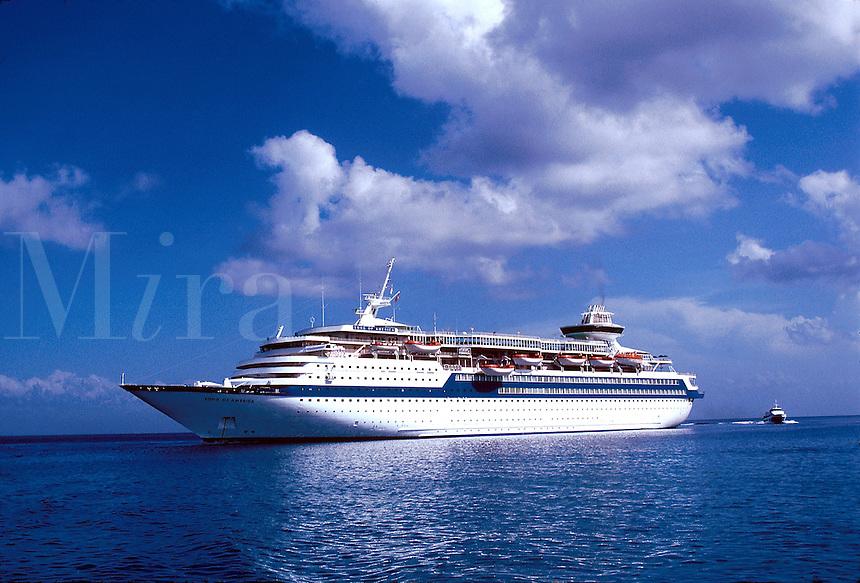 The cruise ship SS Song of America, Atlantic ocean, 05-1015, Ship, Royal Caribbean Cruise Line. Caribbean Sea.