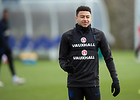 Jesse Lingard of England during the England National Team Training ahead of the international friendly match with Italy at Tottenham Hotspur Training Ground, Hotspur Way, England on 26 March 2018. Photo by Vince  Mignott.