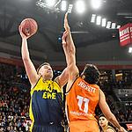 12.01.2020, ratiopharm arena, Neu-Ulm, GER, BBL-Pokal, ratiopharm ulm vs EWE Baskets Oldenburg<br /> , <br /> im Bild Rasid Mahalbasic (Oldenburg, #24), Grant Jerrett (Ulm, #11)<br /> <br /> Foto © nordphoto / Hafner