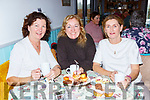 Teresa Kissane, Catherine O'Reilly and Grainne Gullen enjoying the Coffee morning in the aid of the Irish Cancer Society in the Old Creamery restaurant Listry on Friday