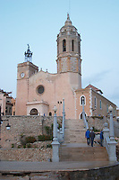 San Barthomieu i Santa Tecla church. Sitges, Catalonia, Spain