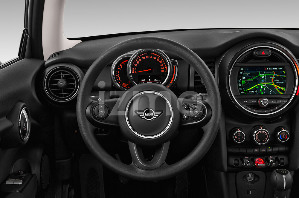 Car pictures of steering wheel view of a 2019 Mini MINI One 3 Door Hatchback
