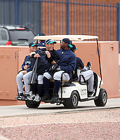 Ichiro Suzuki and Ken Griffey Jr. Seattle Mariners spring training workouts at the Mariners spring training facilities in Peoria, AZ - 02/27/2010.Photo by:  Bill Mitchell/Four Seam Images.