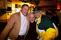 Jerry Kramer, Dick Schaap, Fuzzy Thurston at Fuzzy's bar in Green Bay during the 1996-97 playoffs.