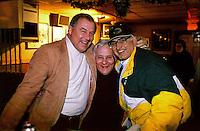 Jerry Kramer, Dick Schaap, Fuzzy Thurston at Fuzzy's bar in Green Bay during the 1996-97 playoffs.