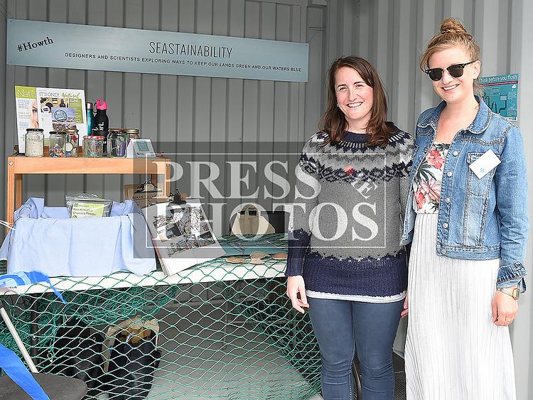 Róisín Nígfhloinn and Rebecca Flanagan from Seastainability at the Drogheda Maratime Festival. Photo:Colin Bell/pressphotos.ie