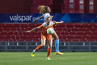 Bridgeview, IL - Saturday July 23, 2016:  Chicago Red Stars defender Casey Short (6) and Houston Dash forward Kealia Ohai (7) during a regular season National Women's Soccer League (NWSL) match between the Chicago Red Stars and the Houston Dash at Toyota Park.