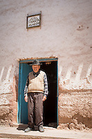 Artisan Hat maker in the town of Maras, Sacred Valley of the Incas, Cusco Region, Peru, South America