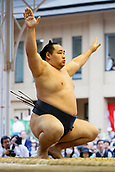 April 17th 2017, Tokyo, Japan;  Kakuryu, Sumo : Yasukuni Shrine Honozumo is a ceremonial annual sumo tournament held in the precincts of the Yasukuni Shrine in Tokyo, Japan.