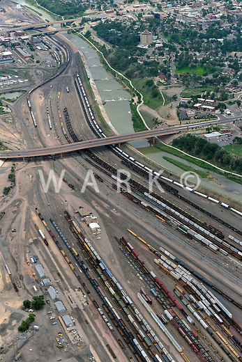 Rail yard, Arkansas River. Pueblo, Colorado. Aug 2014. 810504