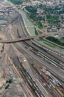 Rail yard, Arkansas River. Pueblo, Colorado. Aug 2014. 810504